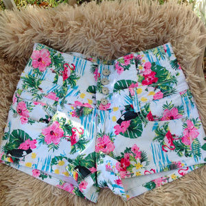 Almost Famous High Waisted Tropical Short